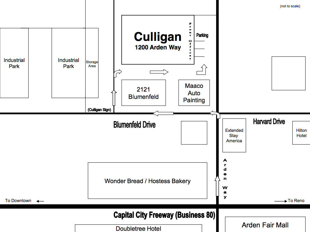 About Us - Culligan of Sacramento - 1200 Arden Way, Sacramento, CA on north county fair mall map, freehold raceway mall map, glendale galleria mall map, crabtree valley mall store map, vintage faire mall map, moorestown mall map, valley fair mall map, fashion fair mall map, chesterfield towne center mall map, kenwood towne centre mall map, willowbrook mall mall map, white marsh mall map, arden mall map bing, walden galleria mall map, fair oaks mall store map, chandler fashion center mall map, fashion place map, danbury fair map, arden mall express, santa anita mall store map,